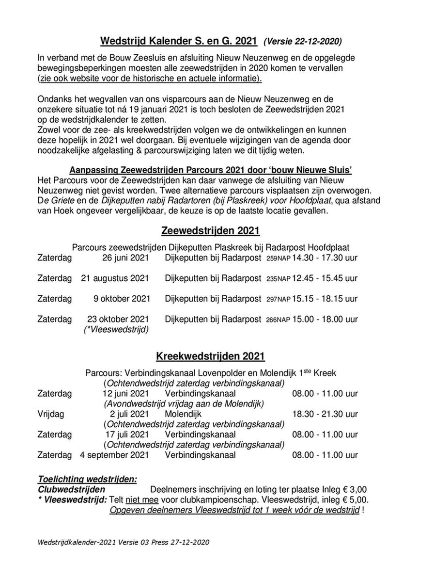 Wedstrijdprogramma 2021 Versie 03A